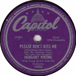 Margaret Whiting - Please Don't Kiss Me / April Showers